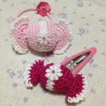 キャンディのヘアゴム&パッチンピン~pink~