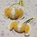 キャンディヘアゴム&パッチンピン~yellow~