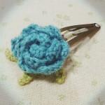 バラのパッチンピン~blue~