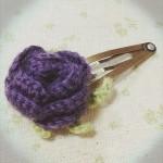 バラのパッチンピン~purple~