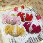 キャンディのヘアゴム~ピンク&黄&赤&濃いピンク~