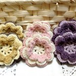 お花モチーフ3種