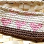 ハートの模様編み