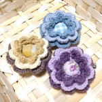 お花のブローチ3種