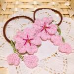 桜のヘアゴム