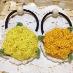 菜の花のヘアゴム2種
